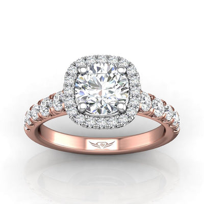 Vincents Fine Jewelry | Martin Flyer | Cutdown Micropave Engagement Ring