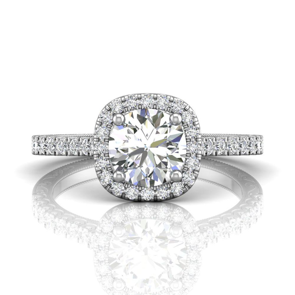 Martin Flyer, FlyerFit Cutdown Micropave Platinum Engagement Ring