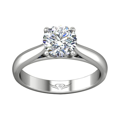 Vincents Fine Jewelry | Martin Flyer | Solitaire Wide Engagement Ring