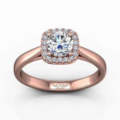 Vincents Fine Jewelry | Martin Flyer | Solitaire Halo Engagement Ring