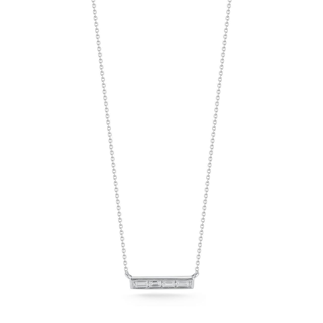 Vincents Fine Jewelry | Dana Rebecca | Sadie Pearl Baguette Bar Necklace