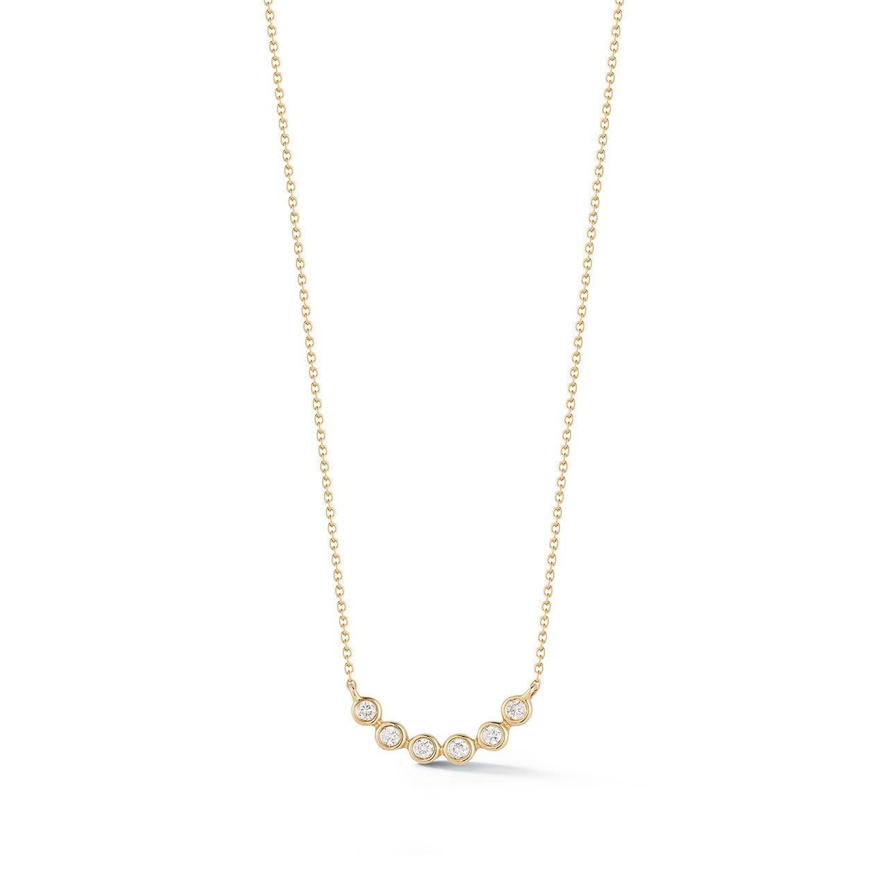 Vincents Fine Jewelry | Dana Rebecca | Lulu Jack Bezel Curve Necklace