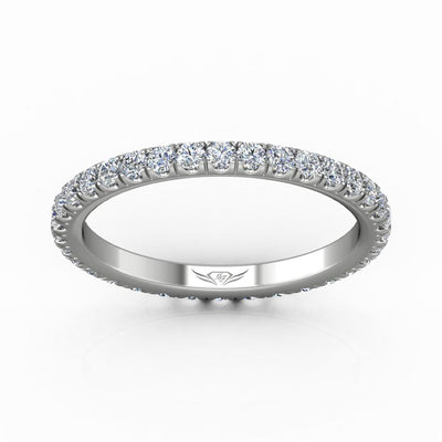 Vincents Fine Jewelry | Martin Flyer | Cutdown Micropave Eternity Wedding Band