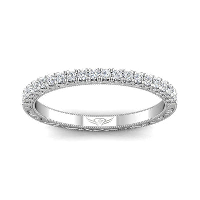 Vincents Fine Jewelry | Martin Flyer | Cutdown Micropave Hand Engraved Wedding Band