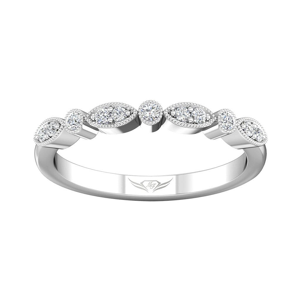 Vincents Fine Jewelry | Martin Flyer | Bead Set Micropave Wedding Band