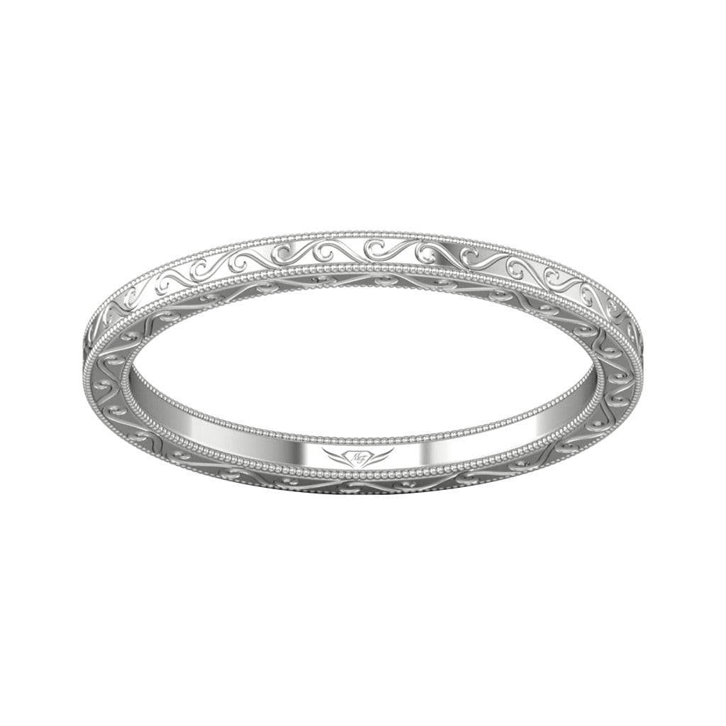 Vincents Fine Jewelry | Martin Flyer | Solitaire Hand Engraved Wedding Band