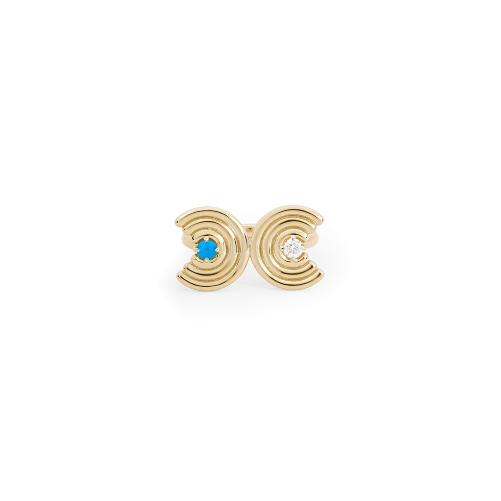 Double Revival Ring Turquoise