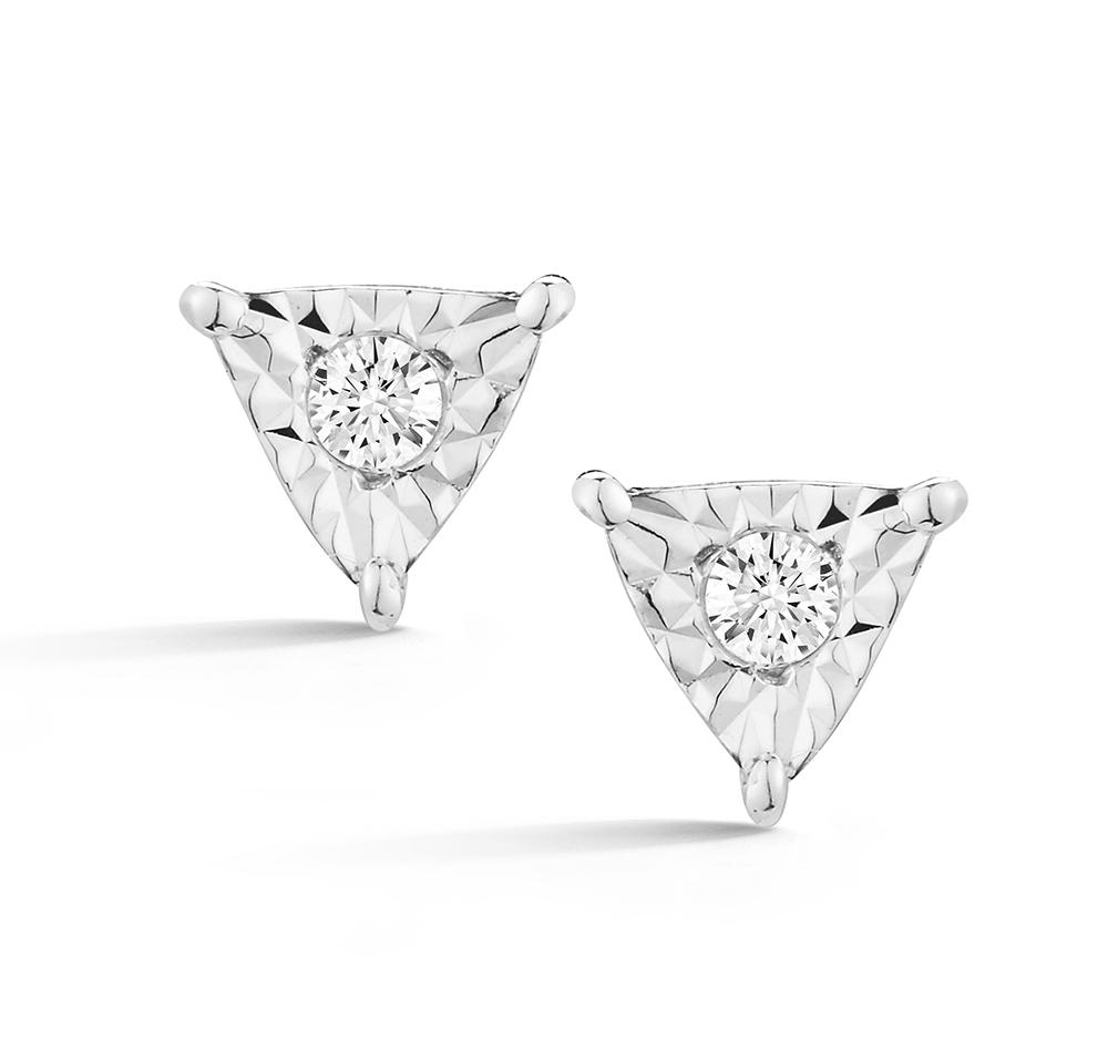 Emily Sarah Mini Triangle Studs