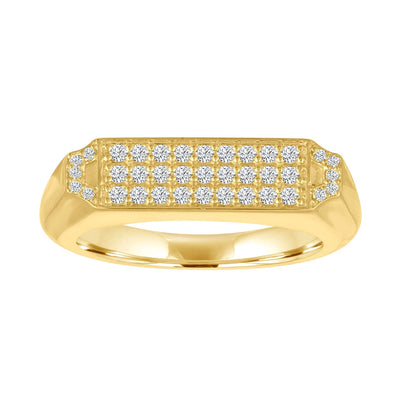 Edge Pave Signet Ring