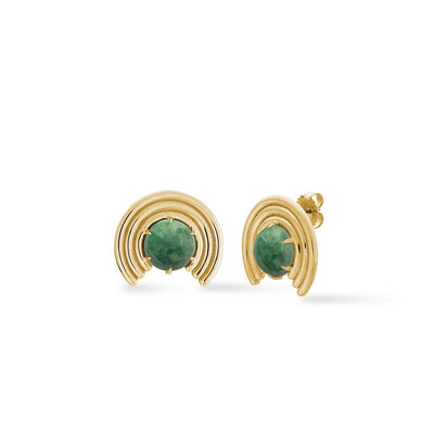 Grand Revival Studs Jade