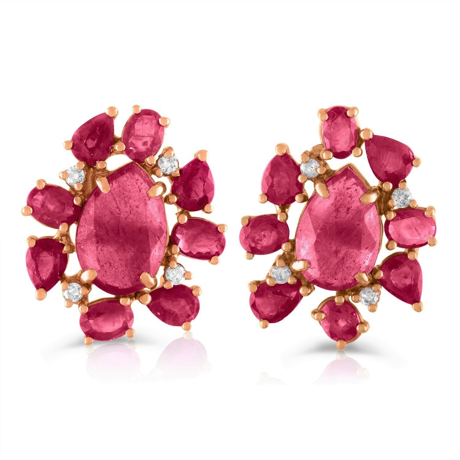 Jane Kaye | Mixed Media Ruby Studs