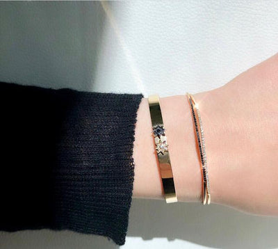 Single Row Black Bracelet
