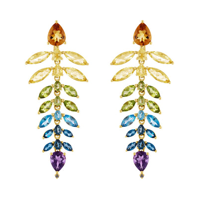 Rainbow Chandelier Earrings