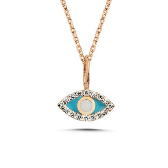 Vincents Fine Jewelry | Enamel Evil Eye Pendant | Own Your Story