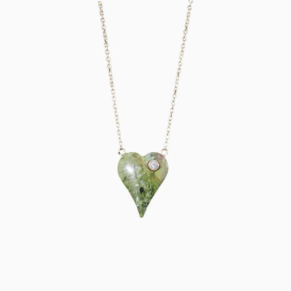 Adriatic Hills Heart & Diamond Pendant