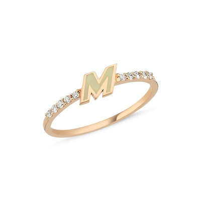 Vincents Fine Jewelry | Enamel Initial Rings | Own Your Story