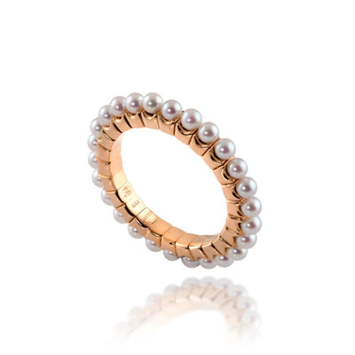 Vincents Fine Jewelry | Jane Kaye | Stretchy Pearl Band Ring