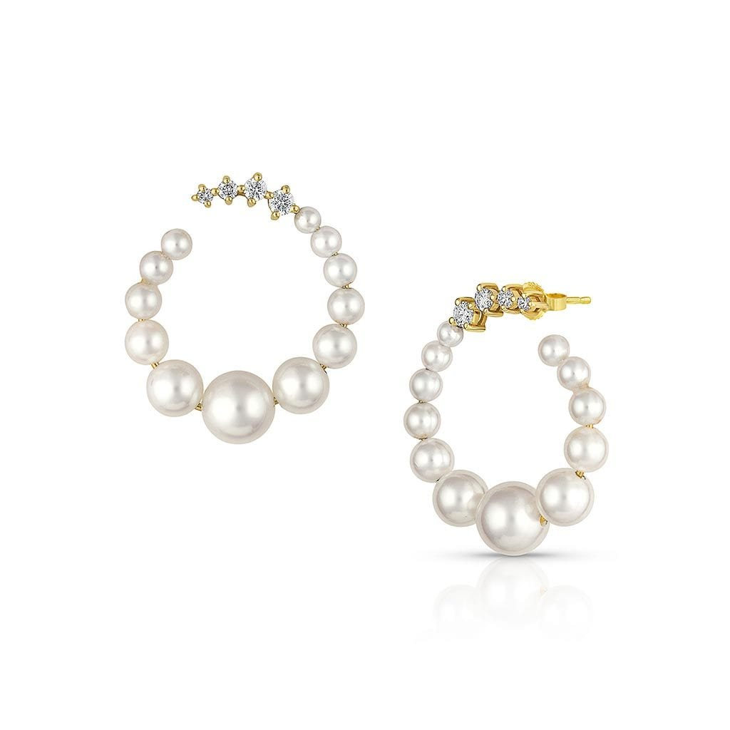 Vincents Fine Jewelry | Jane Kaye | Pearl Loop Earrings