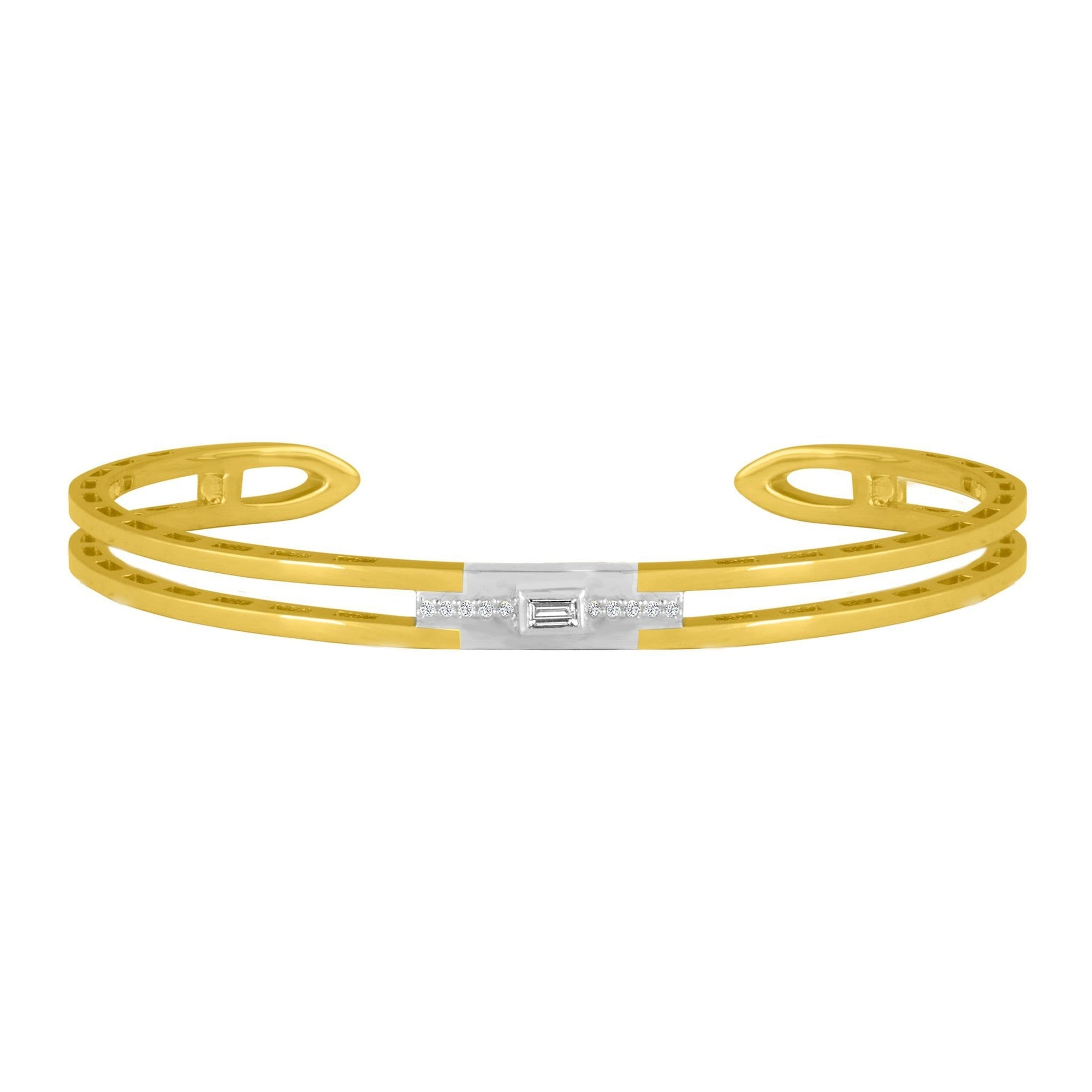 Edge Cuff Bracelet: 18k Yellow Gold