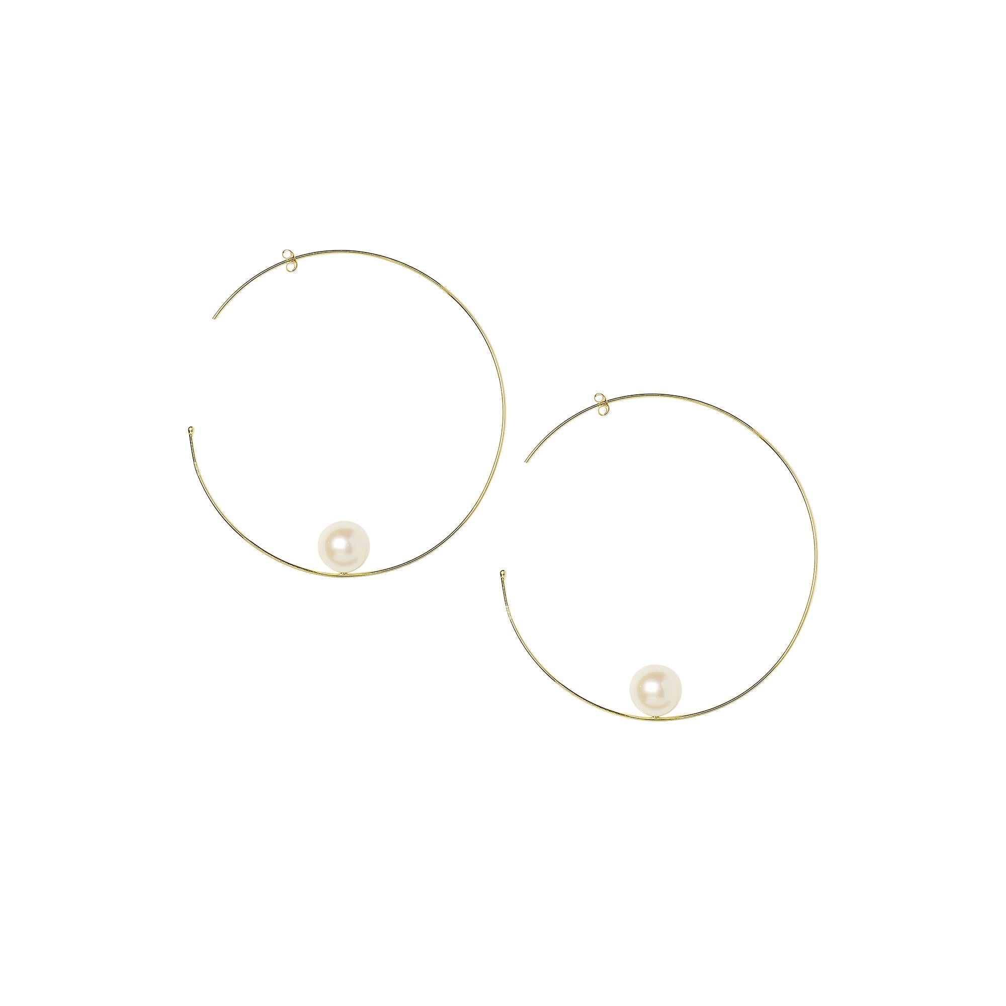 Sweet Pea | Big Pearl Hoops