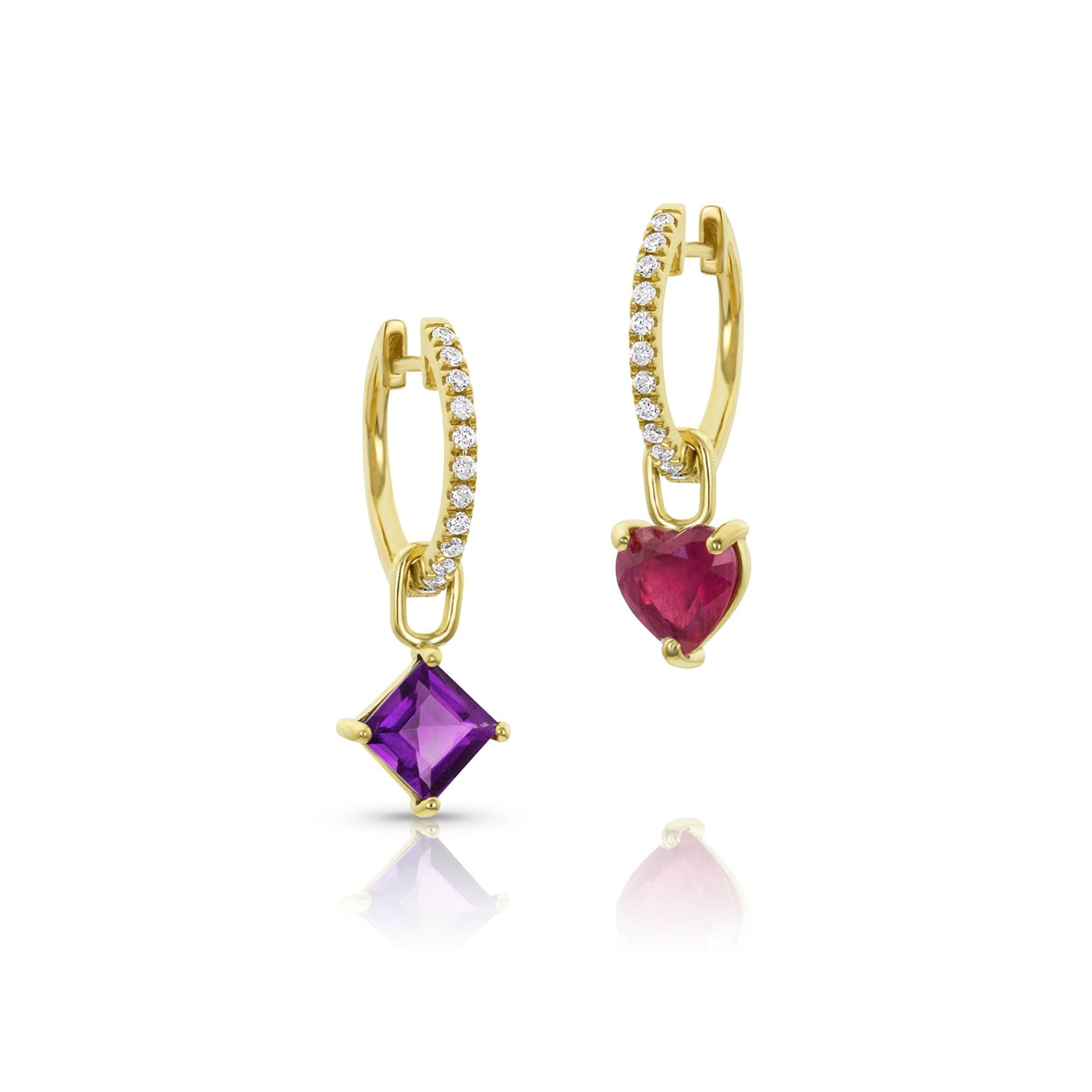Vincents Fine Jewelry | M. Spalten | Gemdrop Mini Hoop Earrings