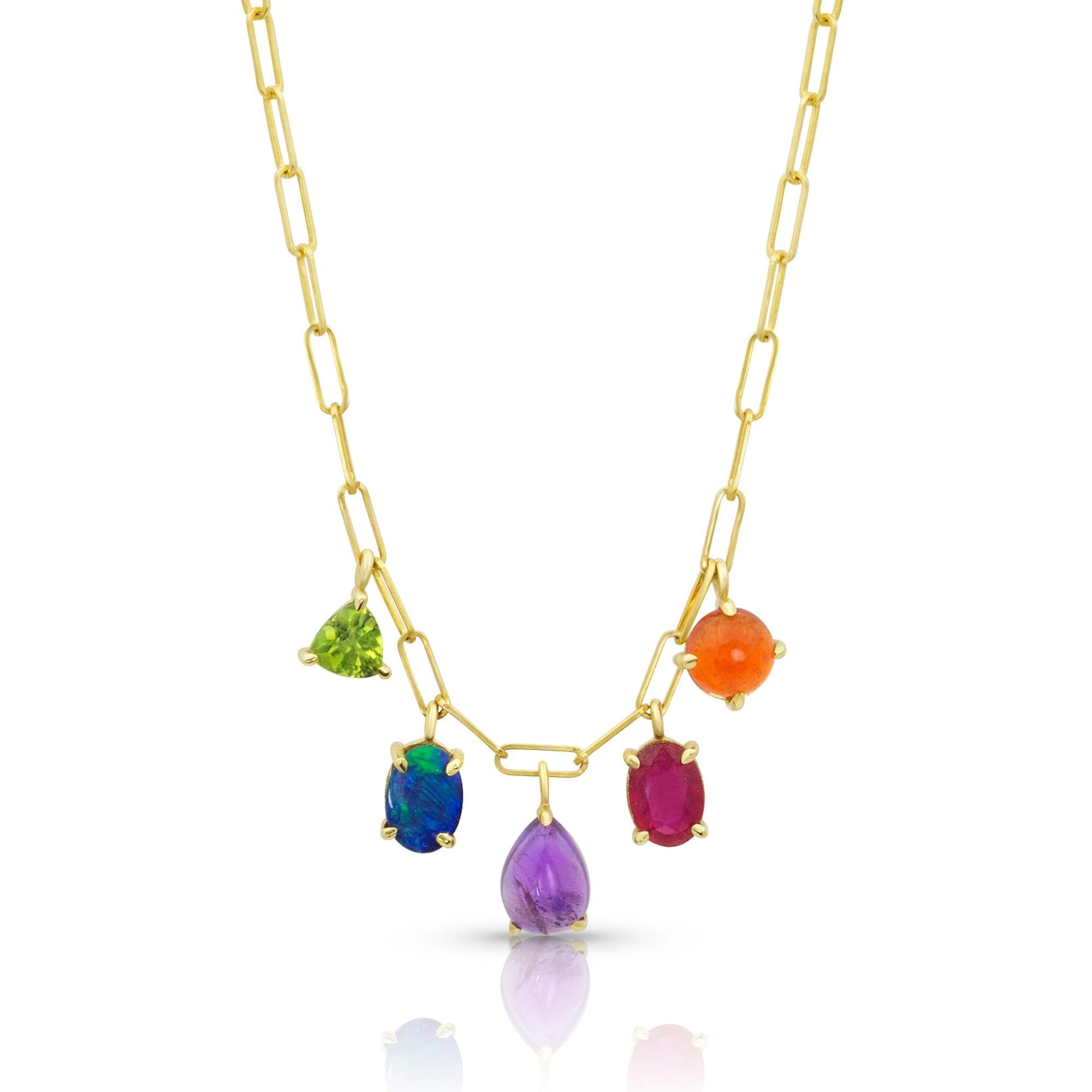 Vincents Fine Jewelry | M. Spalten | 5 Stone Gemdrop Necklace