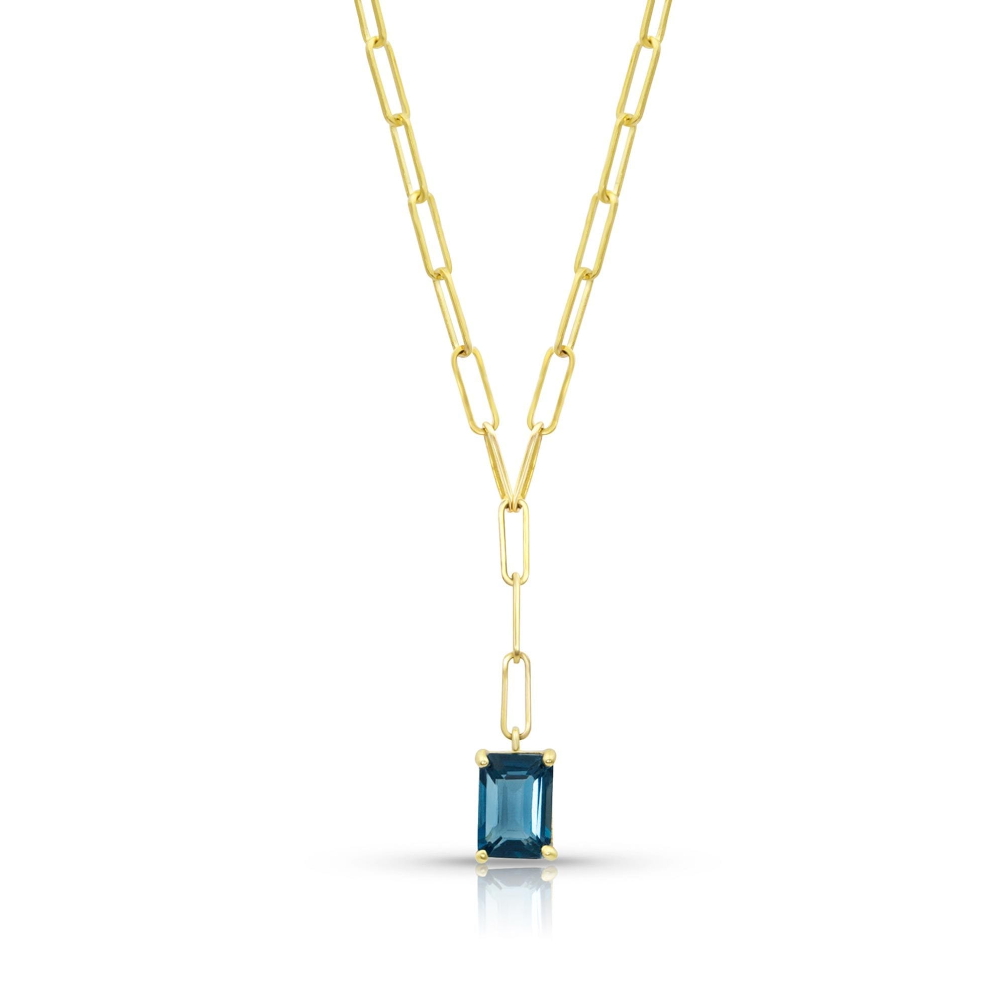 Vincents Fine Jewelry | M. Spalten | Gemdrop Topaz Lariat Necklace