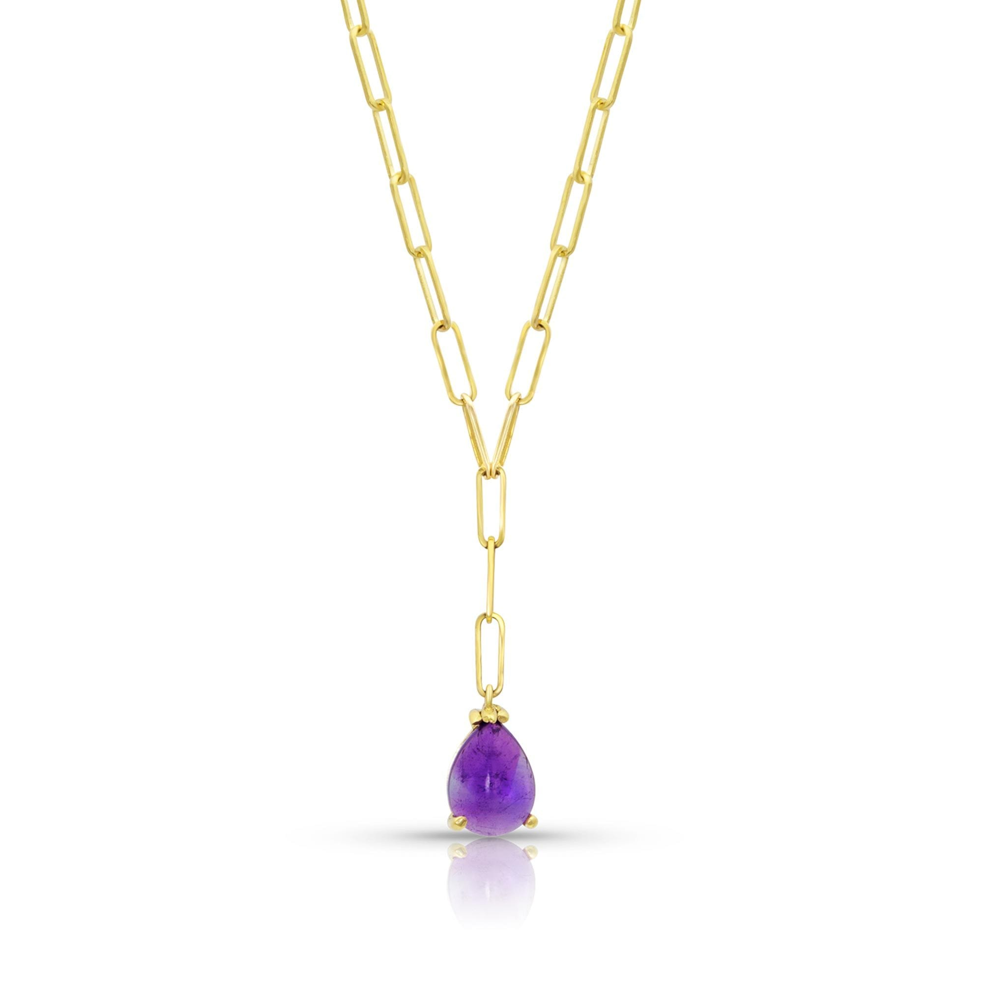 Vincents Fine Jewelry | M. Spalten | Gemdrop Amethyst Lariat Necklace