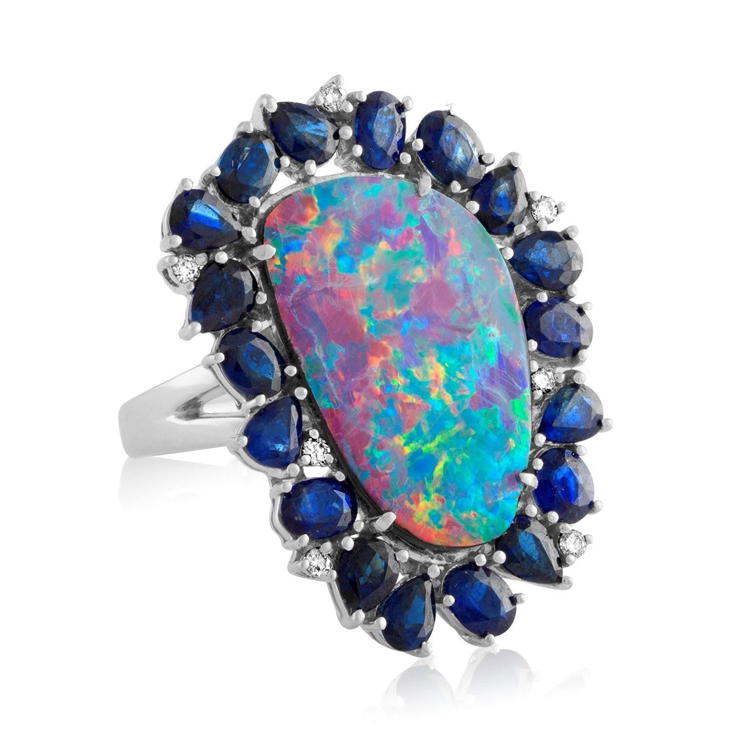 Jane Kaye | Mixed Media Opal Ring