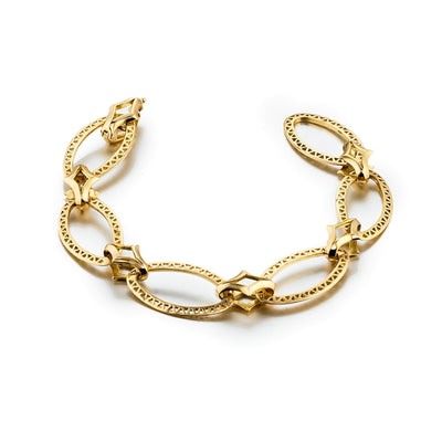 Vincents Fine Jewelry | Ray Griffiths | Oval Link Crownwork Bracelet