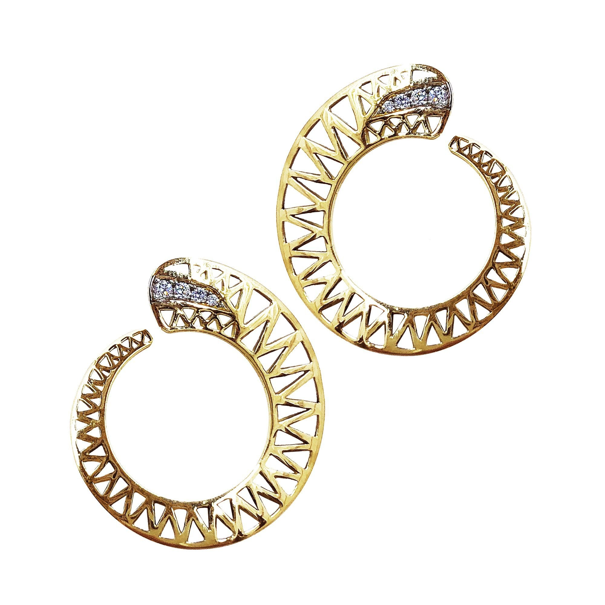 Vincents Fine Jewelry | Ray Griffiths | Spiral Pave Diamond Earrings