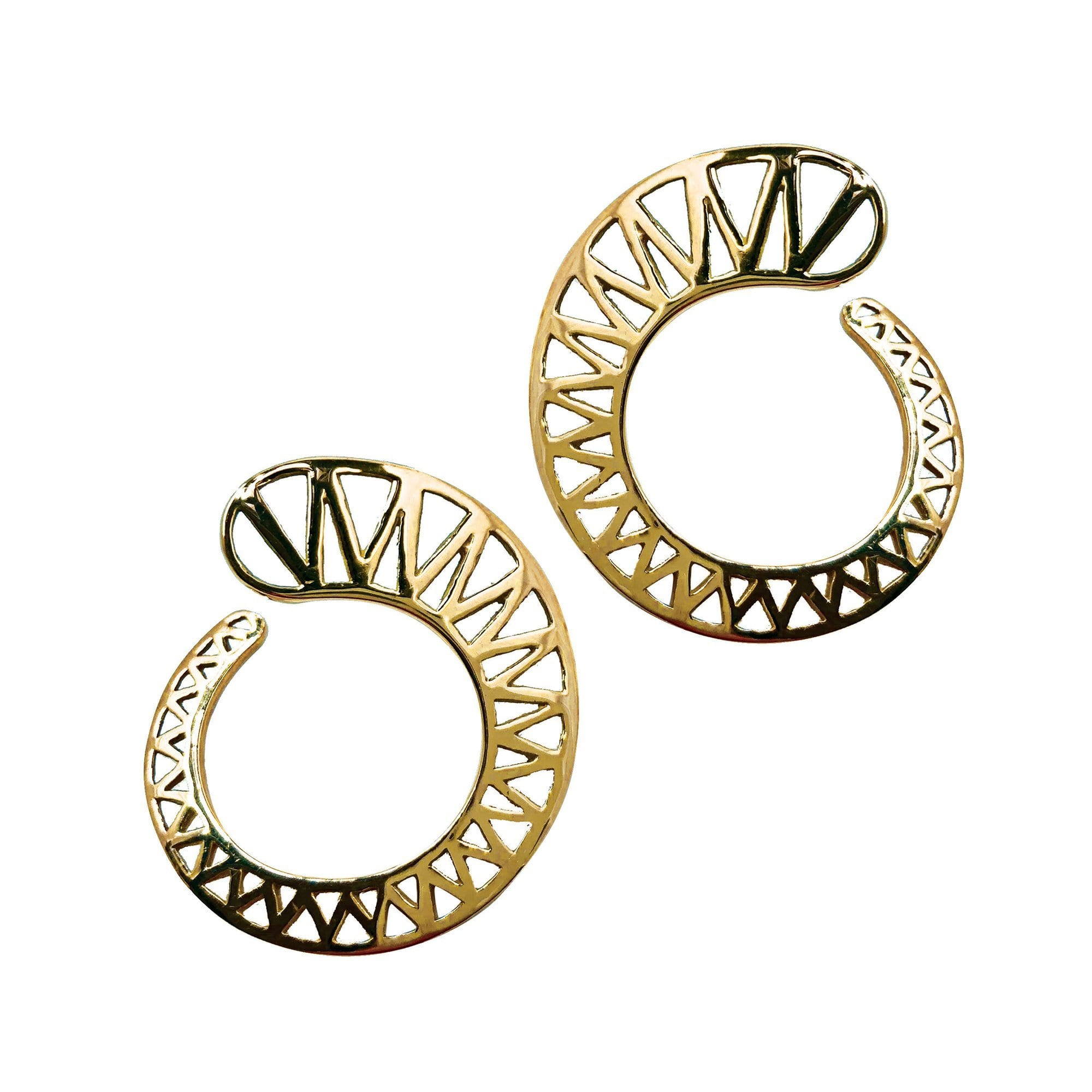 Ray Griffiths | Spiral Knife Edge Earrings