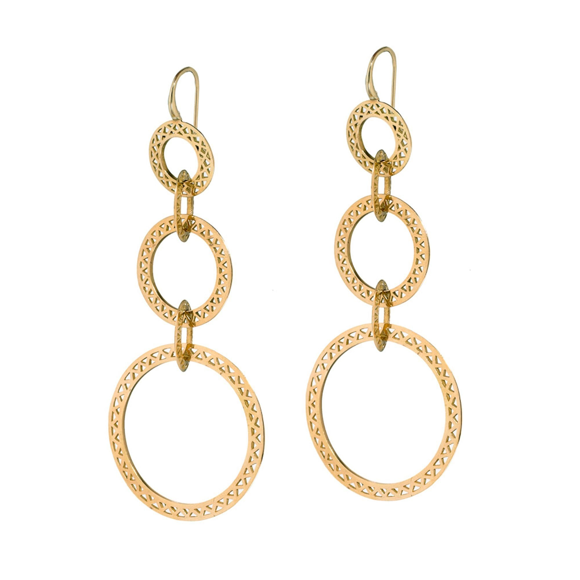 Vincents Fine Jewelry | Ray Griffiths | Triple Drop Crownwork Hoops