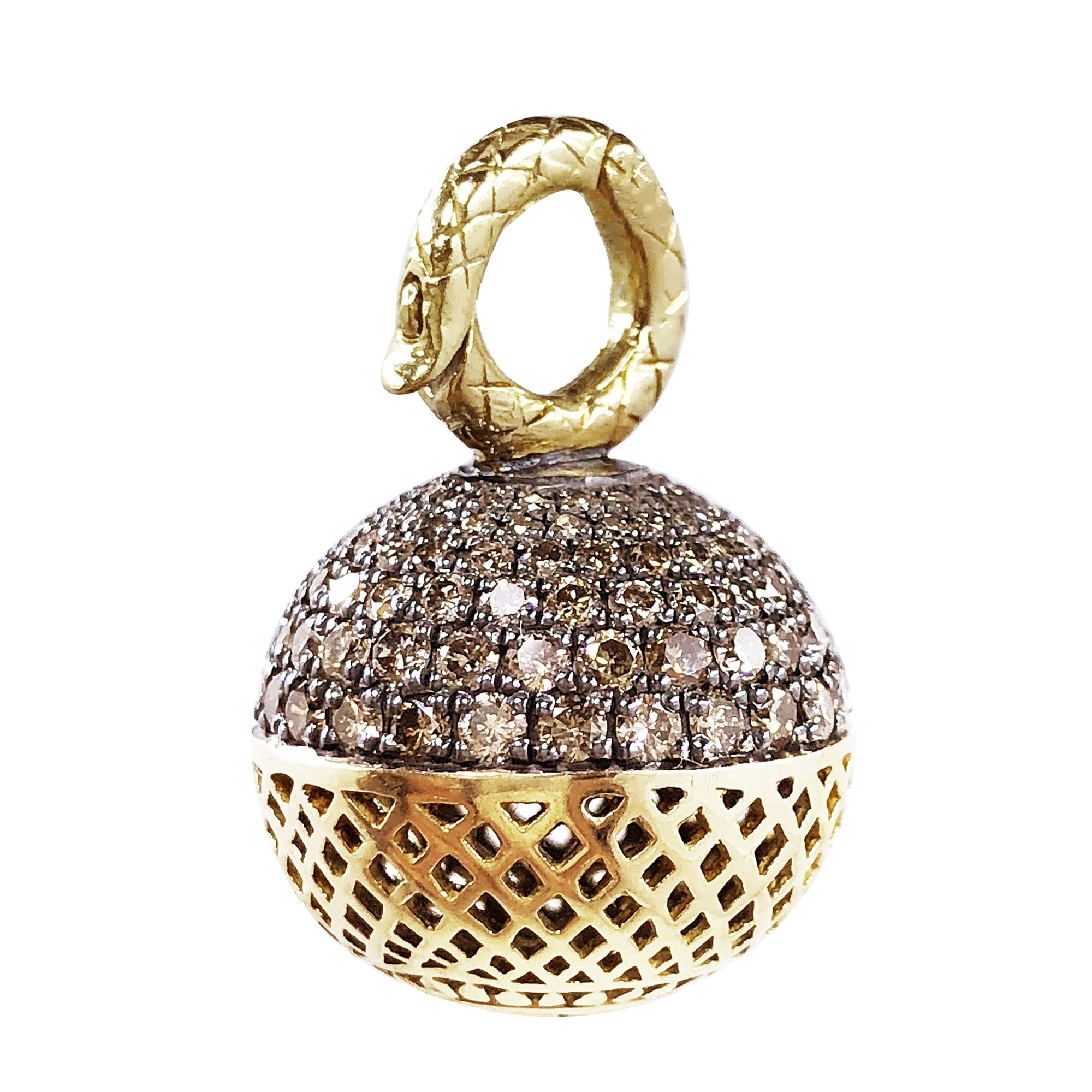 Vincents Fine Jewelry | Ray Griffiths | Champagne Diamond Ball Pendant