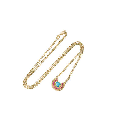 Revival Row Necklace Turquoise