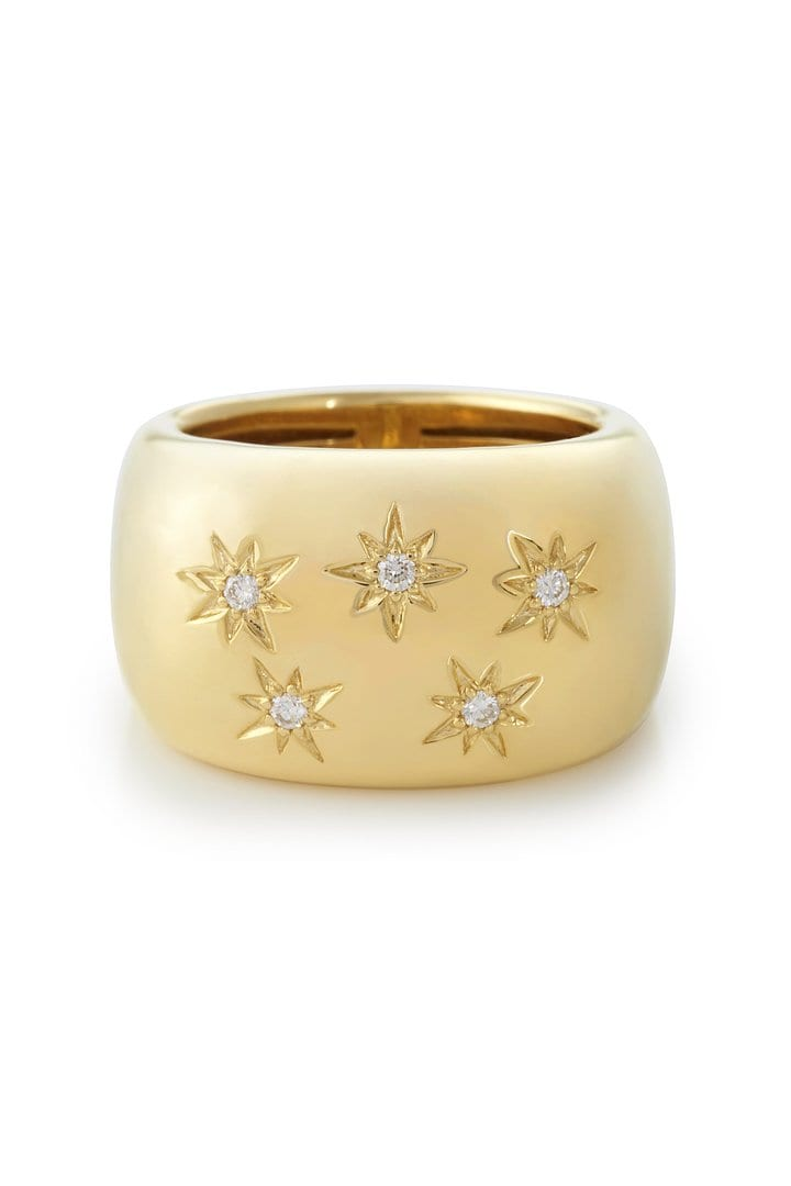 Chunky North Star Ring in 18K Gold