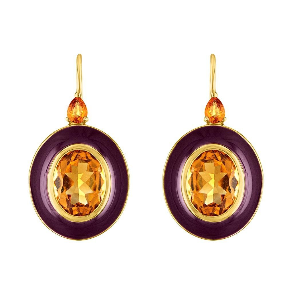 Royal Pop Enamel Earrings