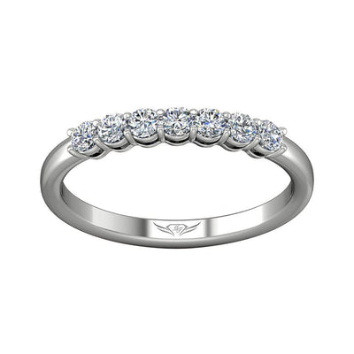 Vincents Fine Jewelry | Martin Flyer | Shared Prong Seven Stone Wedding Band
