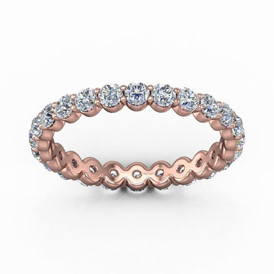 Vincents Fine Jewelry | Martin Flyer | Shared Prong Eternity Wedding Band
