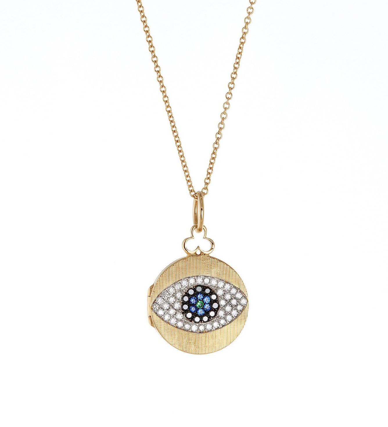 Small Evil Eye Locket in 18K Gold | Florentine