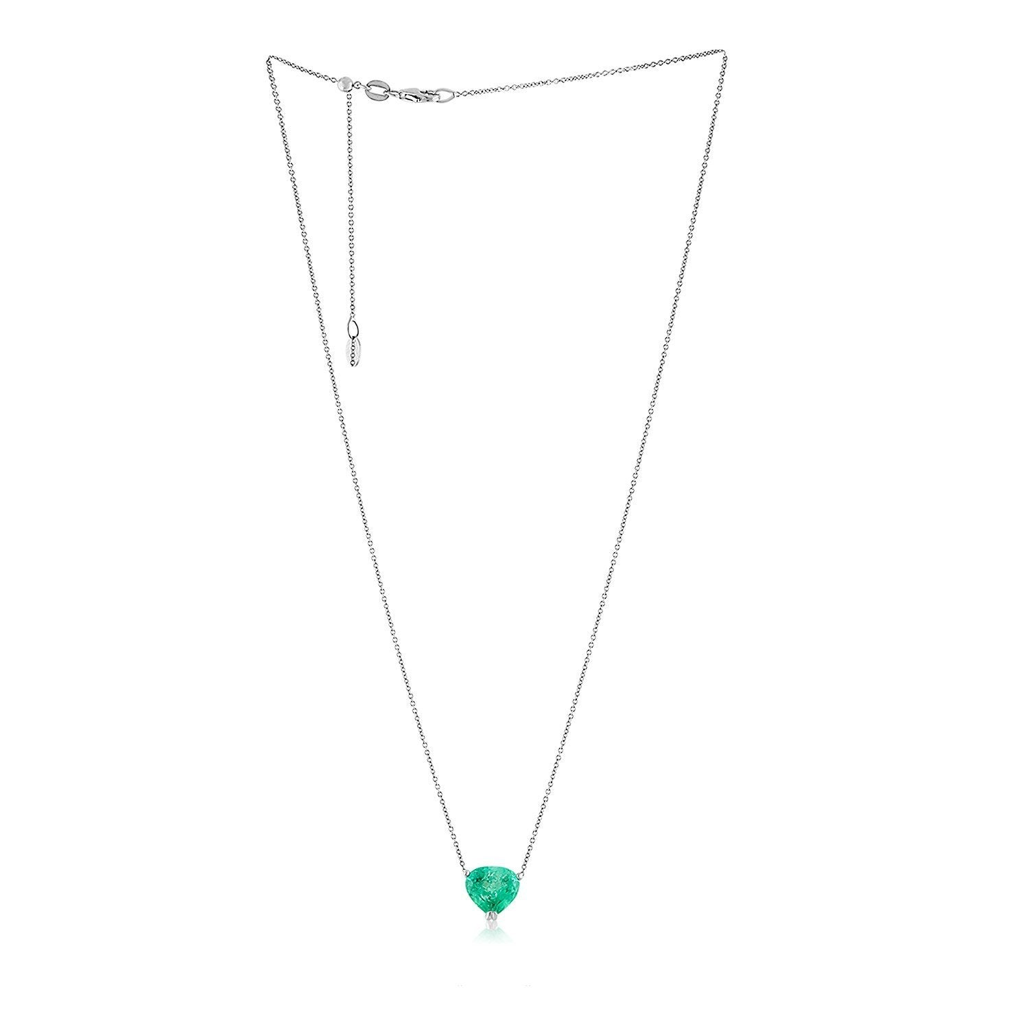 Vincents Fine Jewelry | Jane Kaye | Single Drop Emerald Necklace