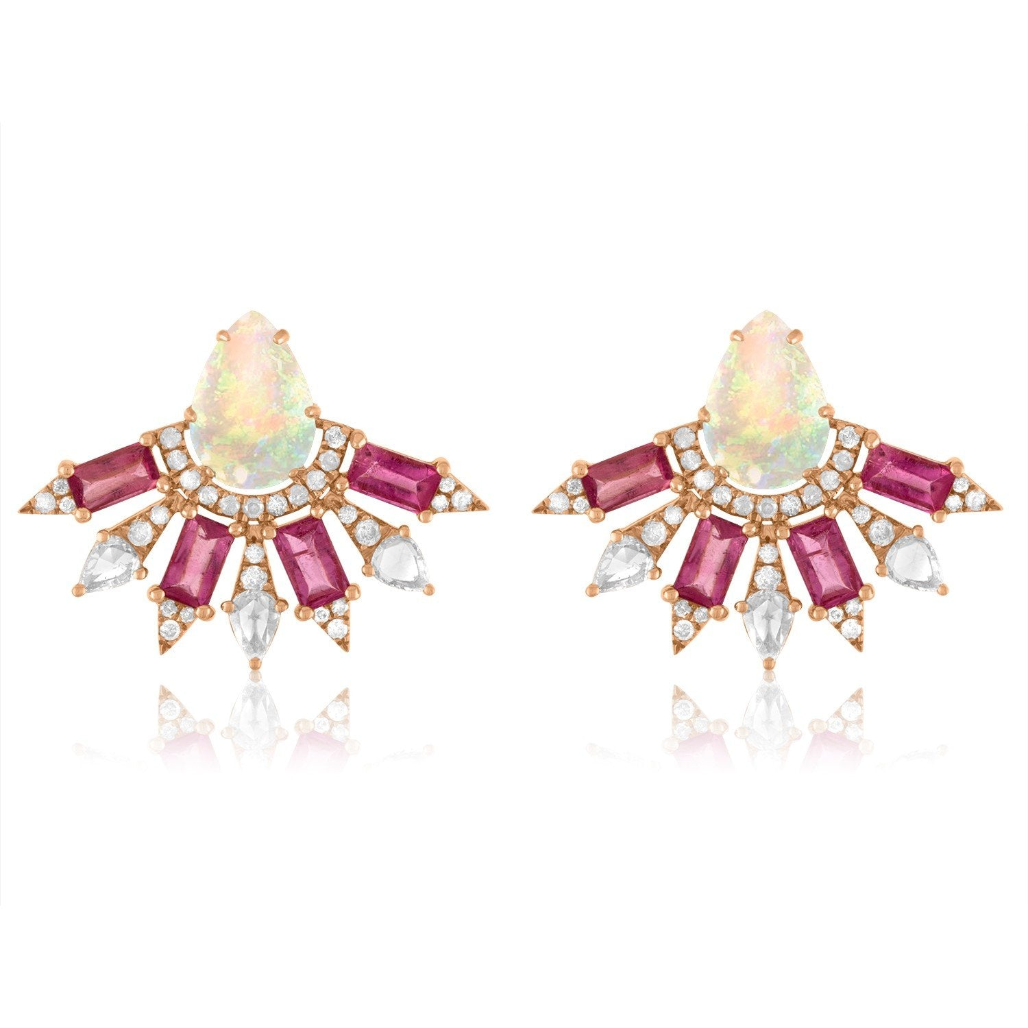 Vincents Fine Jewelry | Jane Kaye | Small Fan Opal Earrings