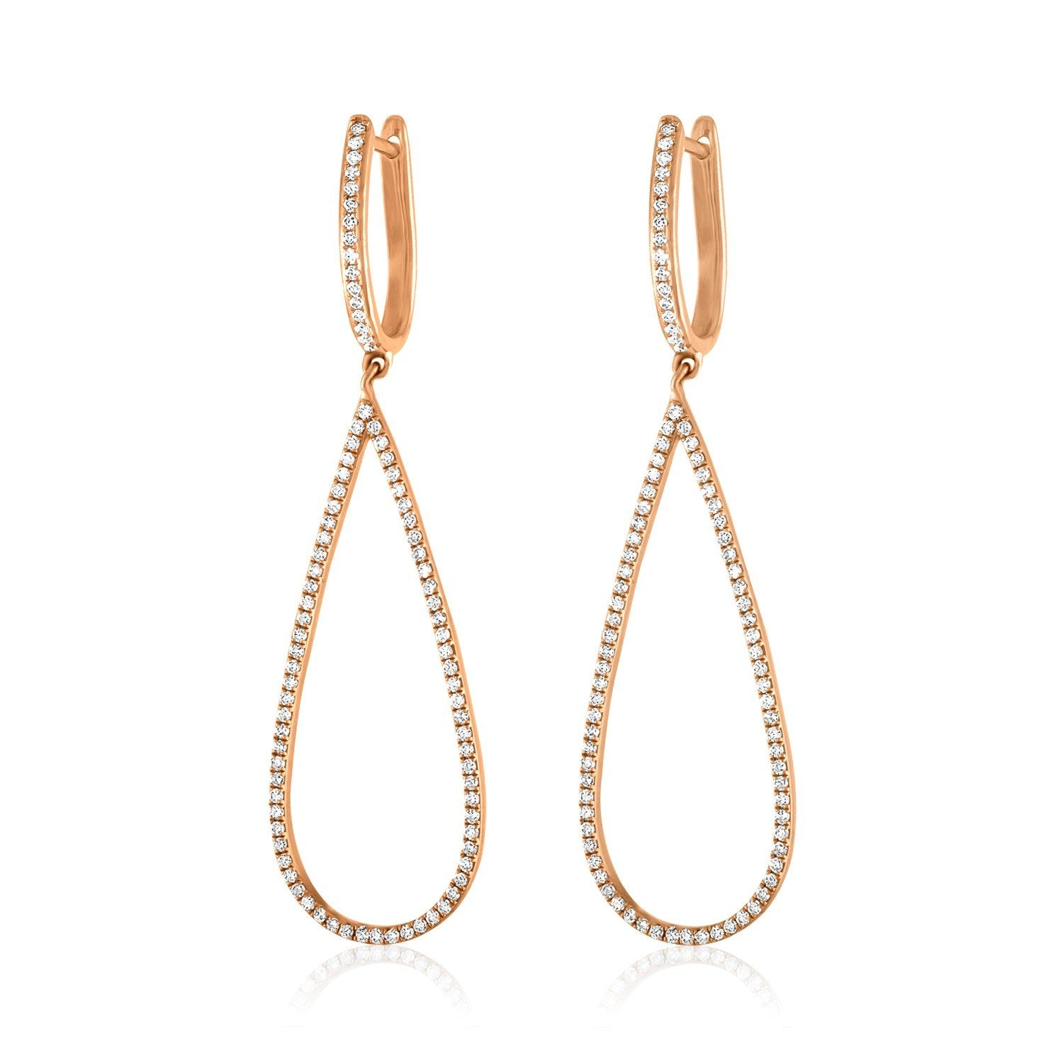 Jane Kaye | Open Drop Pear Earrings Small