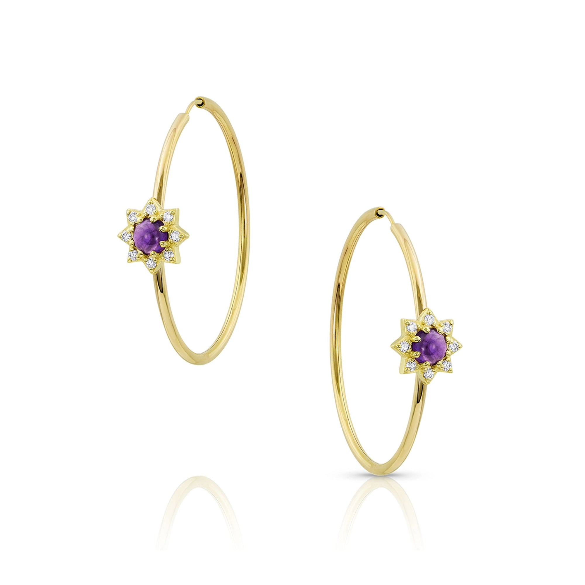 M. Spalten | Starburst Hoop Earrings