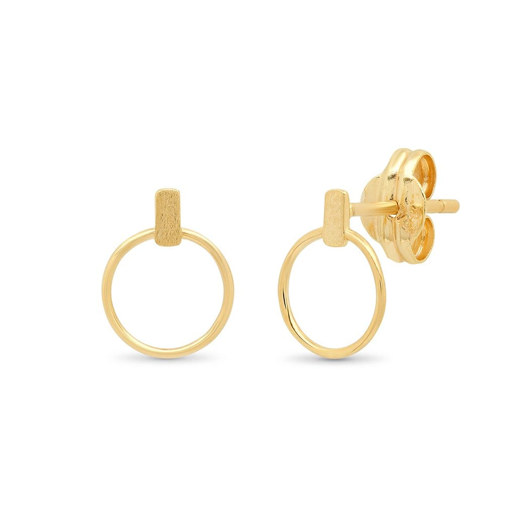 Vincents Fine Jewelry | TAI Jewelry | Baguette Open Circle Studs