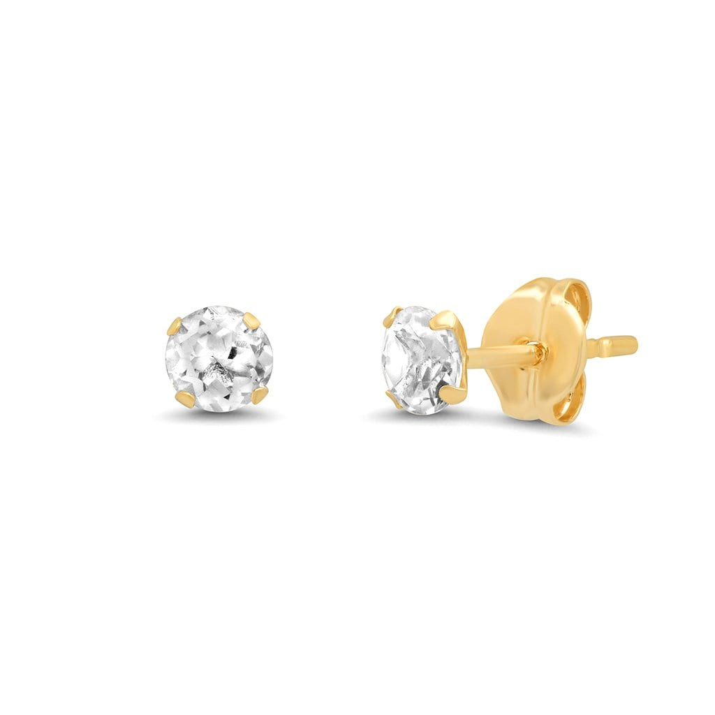 Vincents Fine Jewelry | TAI Jewelry | White Topaz 3.5mm Studs