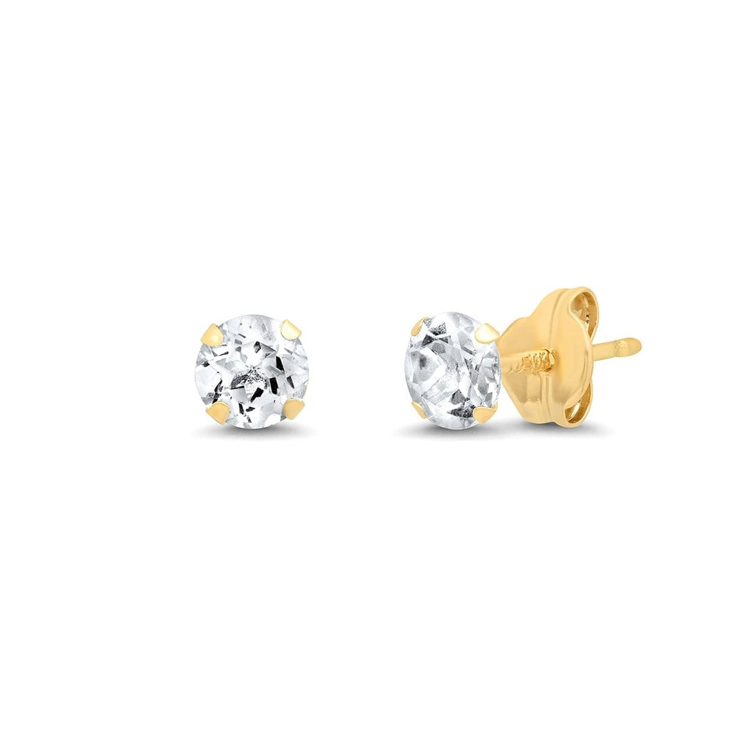 Vincents Fine Jewelry | TAI Jewelry | White Topaz 4mm Studs