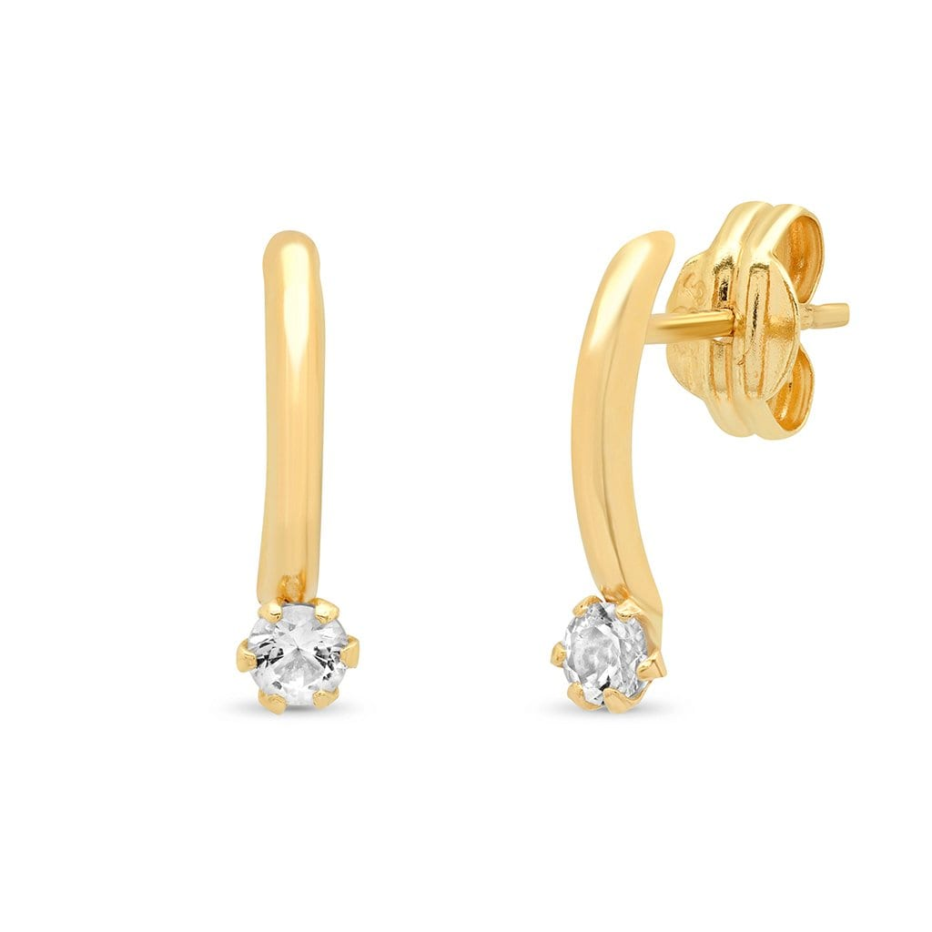 Vincents Fine Jewelry | TAI Jewelry | Curved Bar Topaz Studs