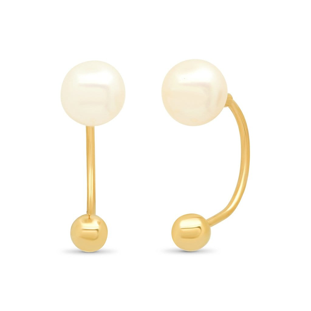 Vincents Fine Jewelry | TAI Jewelry | Fresh Water Pearl Huggies