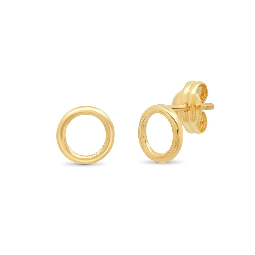 Vincents Fine Jewelry | TAI Jewelry | Hollow Circle Studs